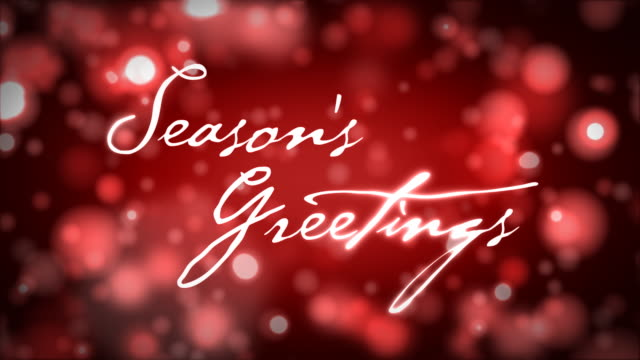 Season's Greetings on Red video