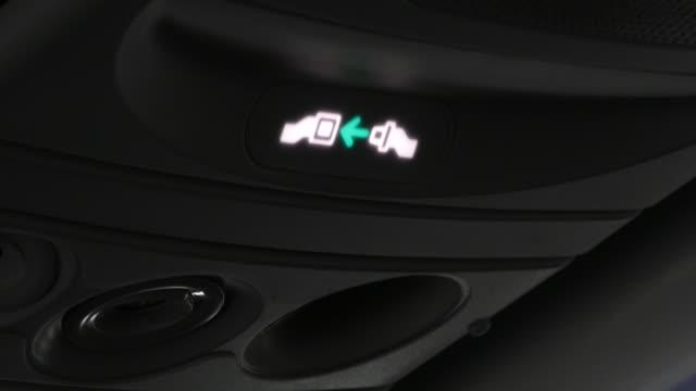 Seatbelt light in airplane