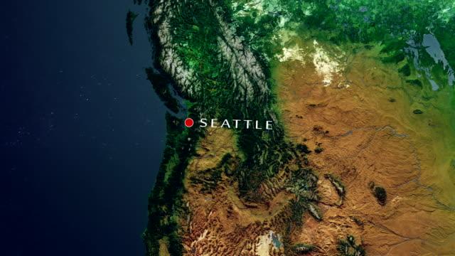 Seattle 4K  Zoom In video