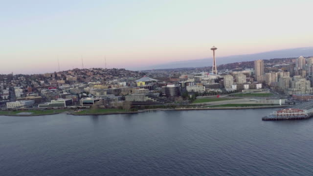 Seattle Aerial View at Dusk video