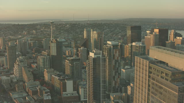 Seattle City USA Aerial View