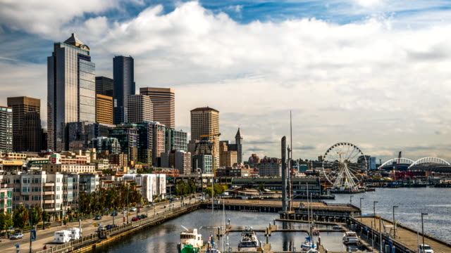 Seattle cityscape time lapse Seattle cityscape time lapse seattle stock videos & royalty-free footage