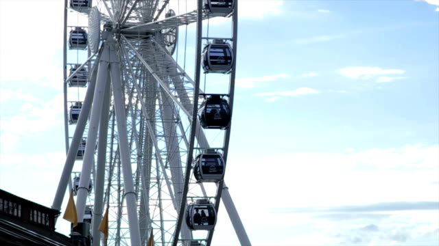 Seattle ferris wheel Seattle ferris wheel during the day. seattle stock videos & royalty-free footage