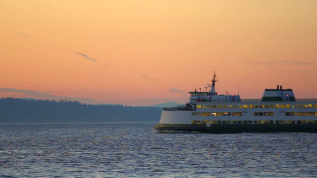 Seattle Ferry Passing By video