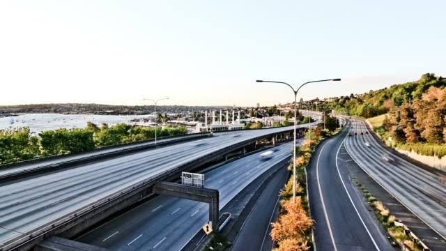 Seattle I-5 Verkehr Zeitraffer-Effekt – Video
