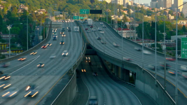 Seattle I-5 Traffic Time Lapse Zoom video