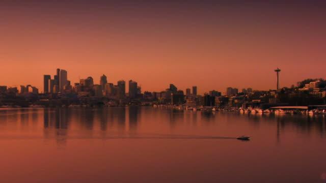 Seattle Skyline Sunset video