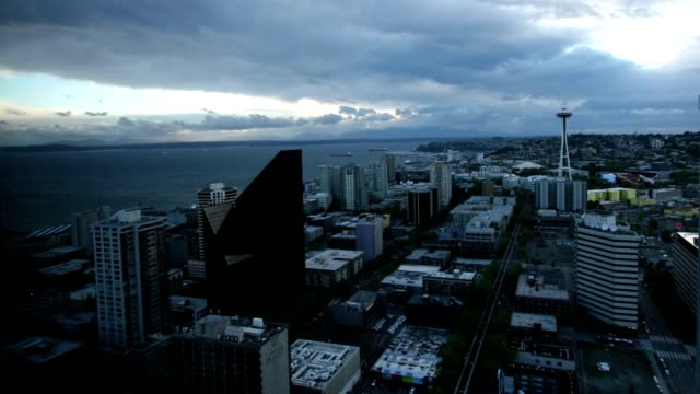 Seattle Time Lapse Day to Night video