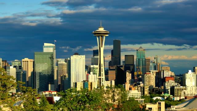 시애틀, wa - seattle 스톡 비디오 및 b-롤 화면