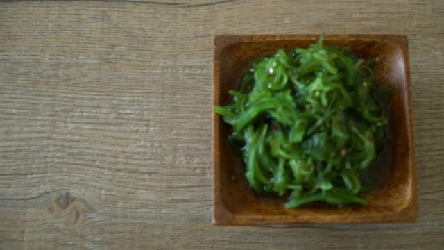 seaweed salad -Japanese style video