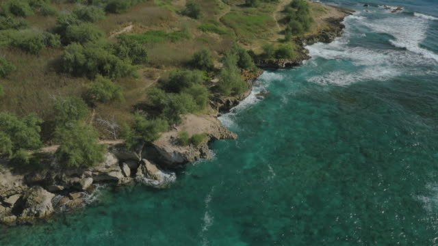 Secluded Private tropical beach, Aerial View video