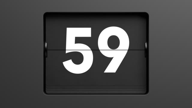 60 second flip clock countdown - un singolo oggetto video stock e b–roll