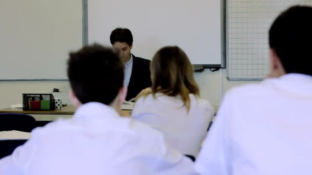 Secondary school classroom video