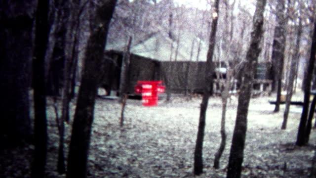 (8mm Vintage) 1974 Secret Government Base Tent Camps