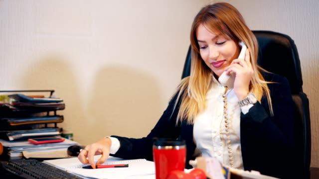 Secretary answers the phone video