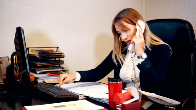 Secretary arranges a meeting over the phone video