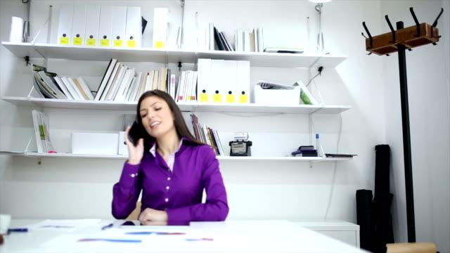 Secretary on the phone video