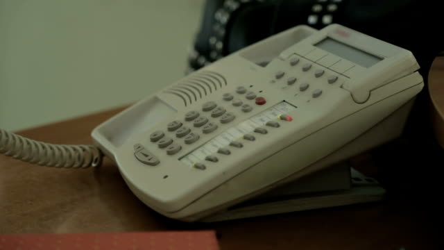 Secretary talking on phone, tele-marketing cloth shopping trade, dispatch center