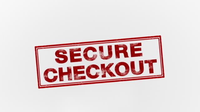 secure checkout - замок средство безопасности стоковые видео и кадры b-roll