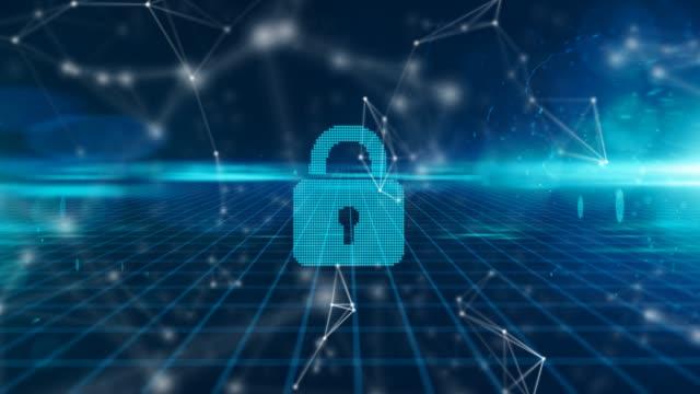 Secure fintech global money tansfer using blockchain encrypted digital money video
