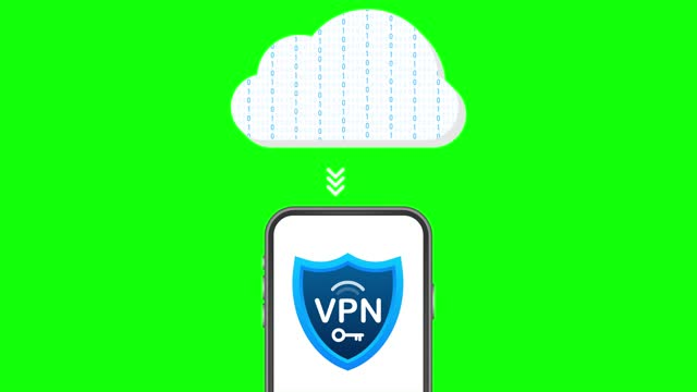 Secure VPN connection concept. Virtual private network connectivity overview.  stock illustration.
