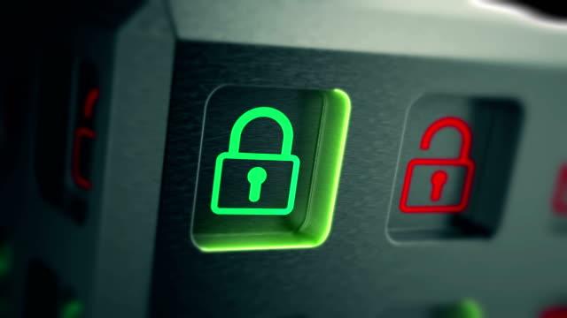 セキュリティおよびサイバー個人データまたは情報プライバシービデオ - ウイルス対策ソフト点の映像素材/bロール