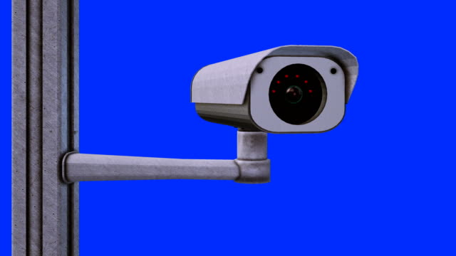 Security Camera 4K with matte (loop) video