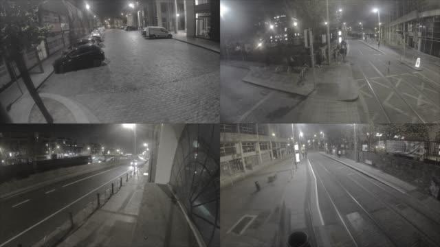 cctv-überwachungskameras - überwachungskamera stock-videos und b-roll-filmmaterial