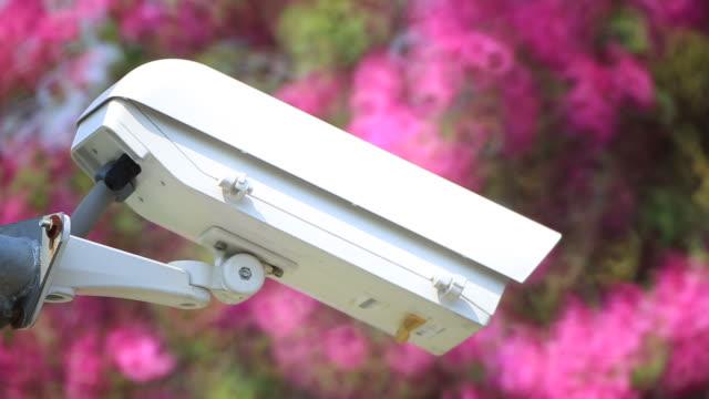 CCTV security camera in garden video