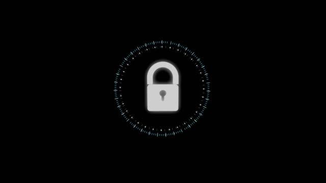 セキュリティ概念のヘッドを南京錠で表示を - ウイルス対策ソフト点の映像素材/bロール