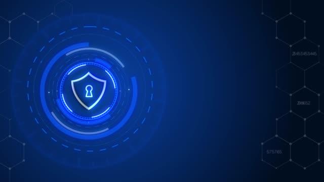 4k security concept head up display with padlock - spyware filmów i materiałów b-roll
