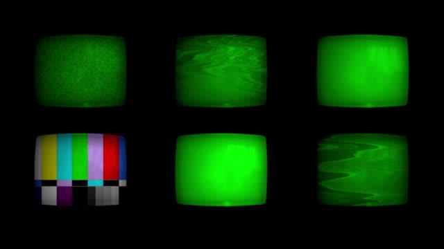 sicherheitsdienst überwacht-system mit grünen bildschirm - überwachungskamera stock-videos und b-roll-filmmaterial