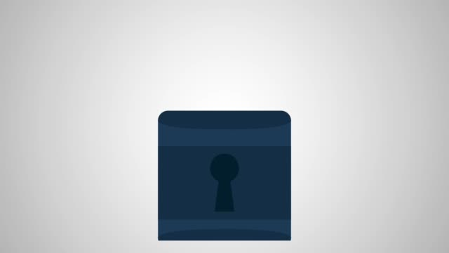 Security padlock animati Padlock security animation on hd, concept of protection padlock stock videos & royalty-free footage