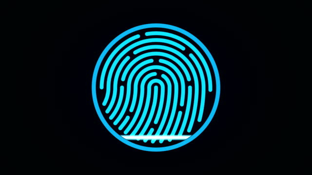 security Finger-print Scanning Identification System. Biometric Authorizations and approval. concept of the future of security and password control through fingerprints in an advanced technological future. password stock videos & royalty-free footage