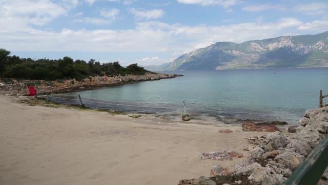 'Sedir' Island or 'Cleopatra' Island in the 'Gokova' Bay/Mugla Mugla/Turkey 11/24/2018 'Sedir' Island or 'Cleopatra' Island in the 'Gokova' Bay/Mugla Mugla/Turkey 11/24/2018 aegean sea stock videos & royalty-free footage