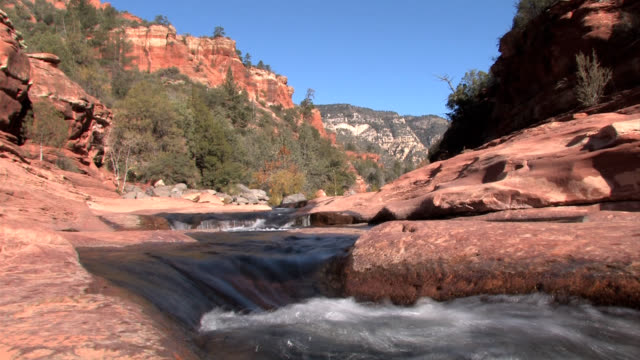 sedona arizona slide rock - 州立公園 個影片檔及 b 捲影像