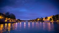 istock Seine From Ile de la Cité, Paris - Day to Night Time Lapse 1253341541
