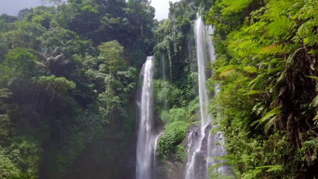 Sekumpul Fiji Waterfall Singaraja Bali Steady Drone View video
