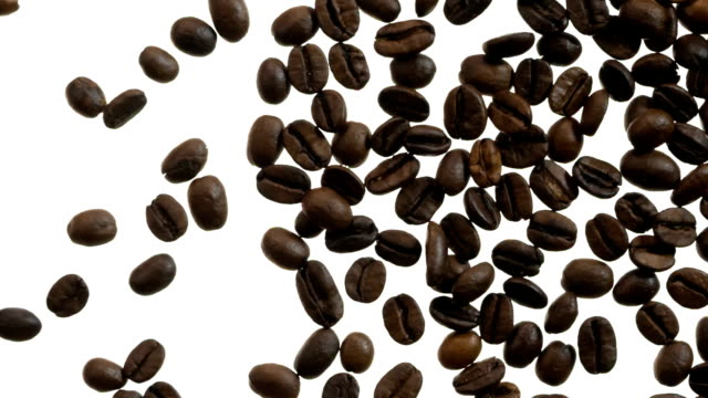 Selected Coffee Beans in White video