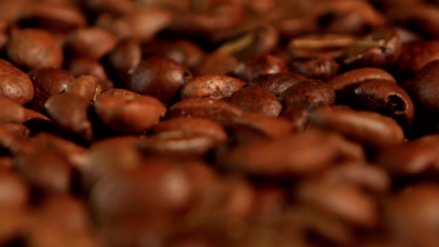 Selected coffee beans to create a fragrant and tasty espresso video