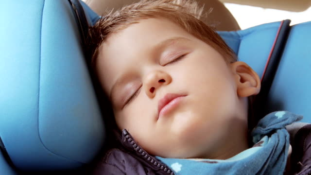 Seleping Baby in Car Seat video