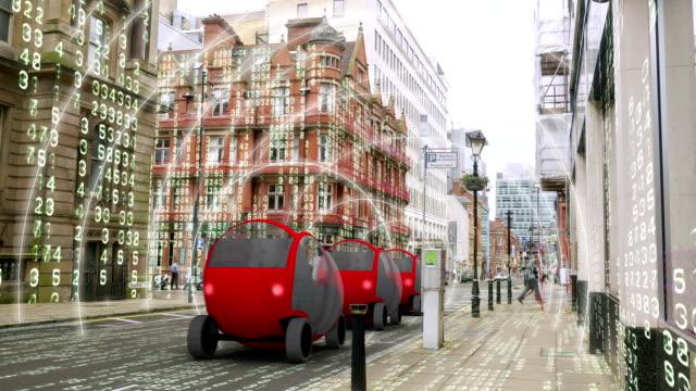 Zelf rijden, autonome auto simulatie met matrix milieu. video