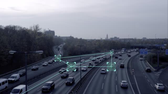 Selbstfahrer autonome Autos auf der Autobahn – Video