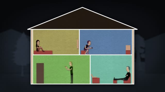 Self Isolation House Animation