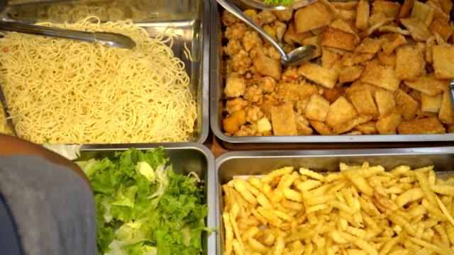 self service food - buffet video stock e b–roll
