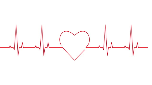 self-drawing heartbeat line - heart filmów i materiałów b-roll