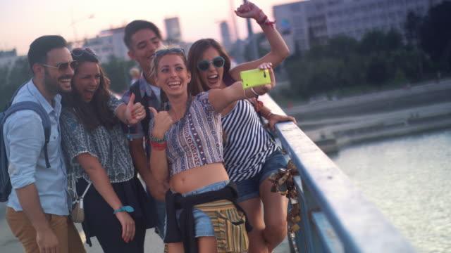 Selfie moment. video