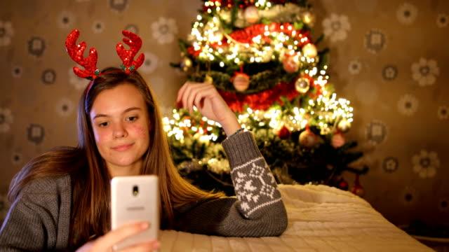 Selfie with Christmas tree