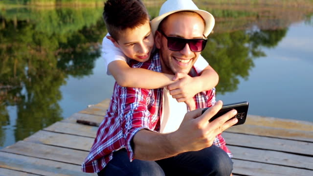 Selfie with father video