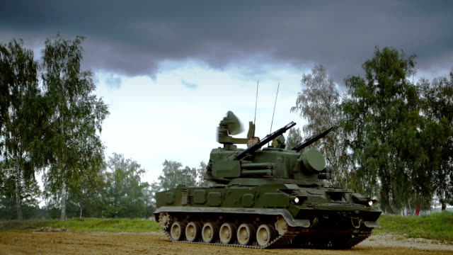 Self-propelled anti-aircraft vehicle video